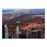 A view from above: Autumn in Central Park 01 Poster
