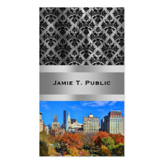 A view from Above: Autumn in Union Square Park NYC Business Card