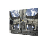 A view from inside the flight deck canvas prints