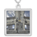 A view from inside the flight deck square pendant necklace