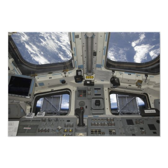 A view from inside the flight deck photo print