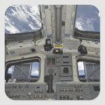A view from inside the flight deck square sticker