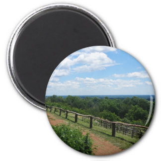 A View From Monticello 2 Inch Round Magnet