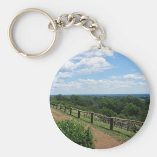 A View From Monticello Basic Round Button Keychain