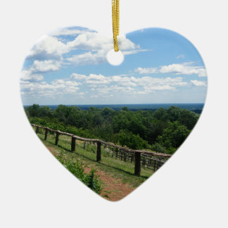A View From Monticello Ceramic Heart Ornament