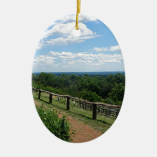 A View From Monticello Ceramic Oval Ornament