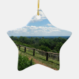 A View From Monticello Ceramic Star Ornament
