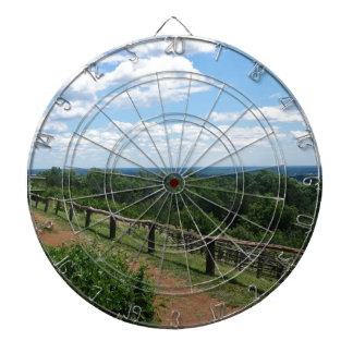 A View From Monticello Dartboard