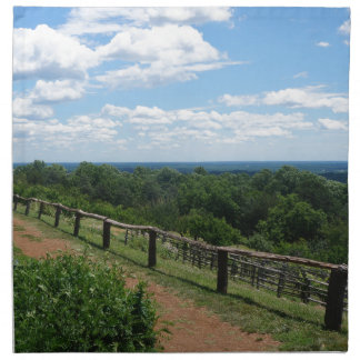A View From Monticello Printed Napkin
