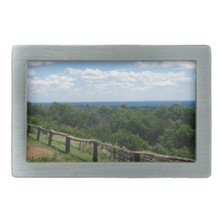 A View From Monticello Rectangular Belt Buckle