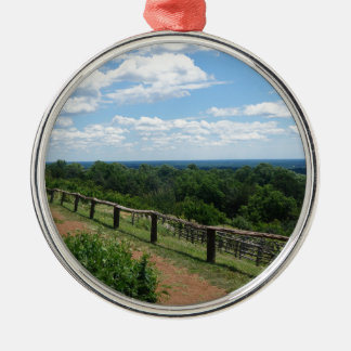 A View From Monticello Silver-Colored Round Ornament