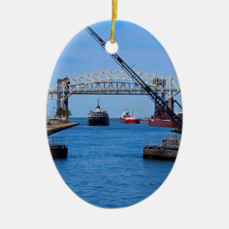 A View from the Soo-FA,s6,2020 Ceramic Oval Ornament