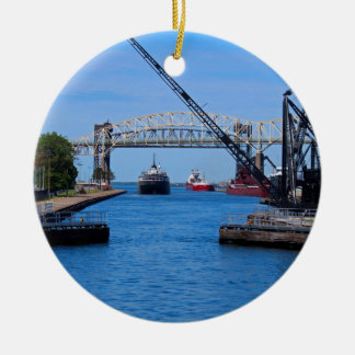 A View from the Soo-FA,s6,2020 Round Ceramic Ornament