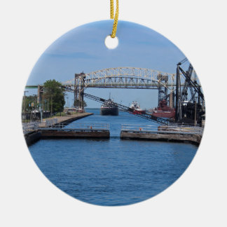 A View from the Soo II Round Ceramic Ornament