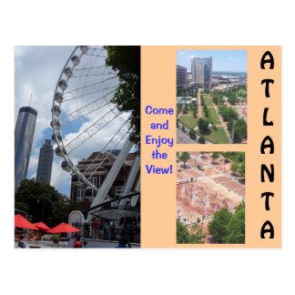 A View from the Top Atlanta Post card