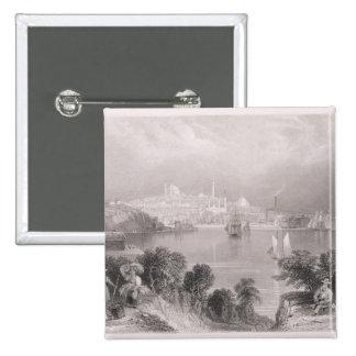 A View of Baltimore 2 Inch Square Button