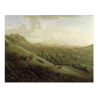 A View of Boxhill, Surrey, with Dorking in the Dis Postcard