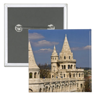 A view of Budapest from Castle Hill. 2 Inch Square Button