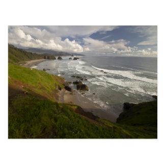 A view of Cannon beach on the Oregon coast. Postcard