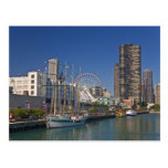 A view of Chicago's Navy Pier 2 Post Card