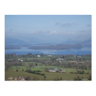 A view of Loch Lomond from the Dumpling Postcard