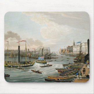 A View of London Bridge and the Custom House Mouse Pad