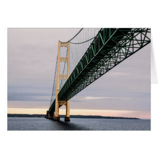 A view of Mackinac Bridge from Lake Michigan 2 Card