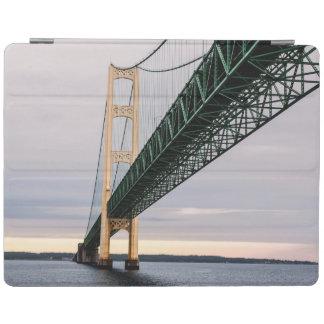 A view of Mackinac Bridge from Lake Michigan 2 iPad Cover