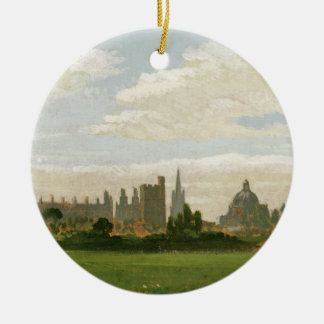 A View of Oxford (oil on millboard) Ceramic Ornament