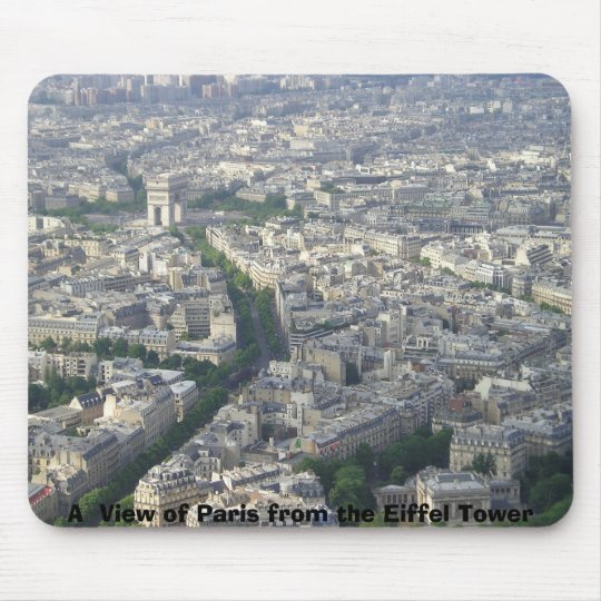 A  View of Paris from the Eiffel Tower Mouse Pad