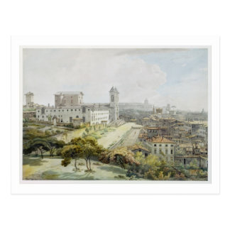 A View of Rome taken from the Pincio, 1776 (w/c ov Postcard