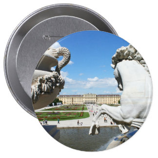 A view of Schonbrunn Palace in Vienna, Austria. 4 Inch Round Button