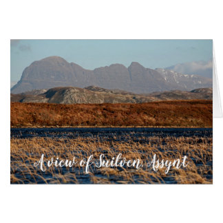 A view of Suilven, Assynt, personalized Card
