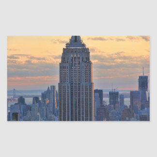 A view of the Empire State Building, Lower NYC Rectangular Sticker