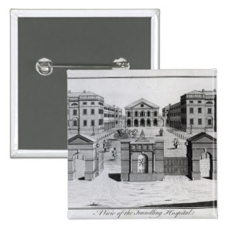 A View of the Foundling Hospital, 1756 2 Inch Square Button