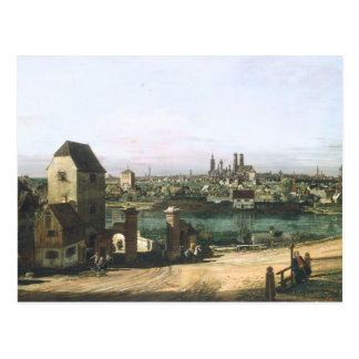 A View of the German City Munich by B. Bellotto Postcard