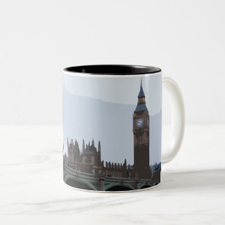 A view of the Houses of Parliament Two-Tone Coffee Mug