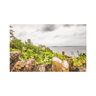 A view of the Irish coast at Dunmore East, Ireland Canvas Print