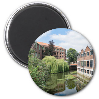 A view of the River Foss in York 2 Inch Round Magnet