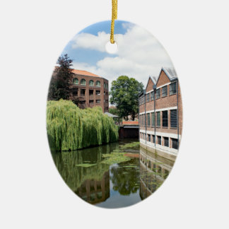 A view of the River Foss in York Ceramic Oval Ornament