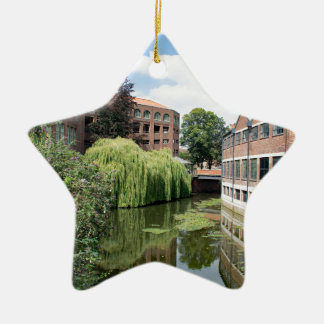 A view of the River Foss in York Ceramic Star Ornament