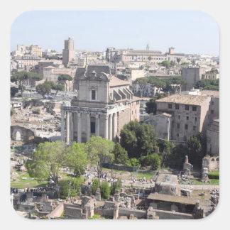 A view of the Rome Forum fome the Farnese Square Sticker