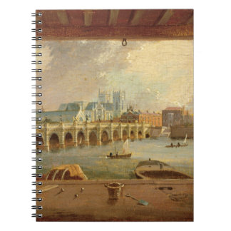 A View of Westminster Bridge (oil on panel) Notebook