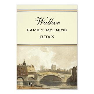 "A View of York, England Family Reunion 5"" X 7"" Invitation Card"
