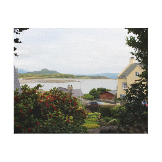 A View Through A Seaside Hedgerow Thin Frame Canvas Print