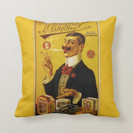A. Viktorsons Cigarette Papers - Vintage Advert Throw Pillow