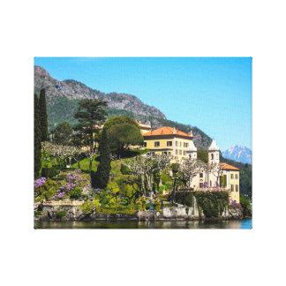 A villa on Lake Como, Italy Canvas Print