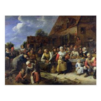 A Village Banquet Postcard