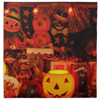 A Vintage Halloween Cloth Napkins