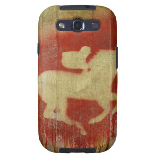 A vintage horse design red galaxy SIII cover